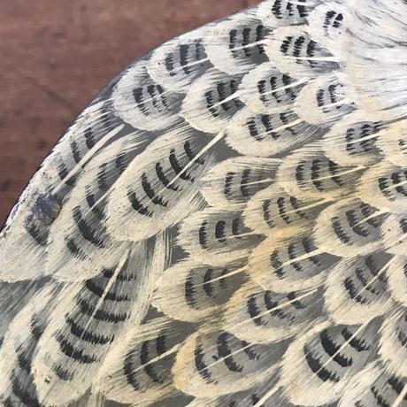 【古道具124】アンティーク フクロウ トレイ