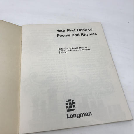 【B0111 】Your First Book of Poems and Rhymes / Bany wilkinson 1973
