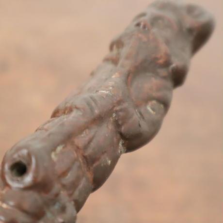 【古道具220】陶器のラッパ吹き人形