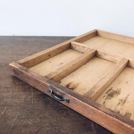 【古道具151】 薄型 引き出しトレイ カトラリーや文具入れに