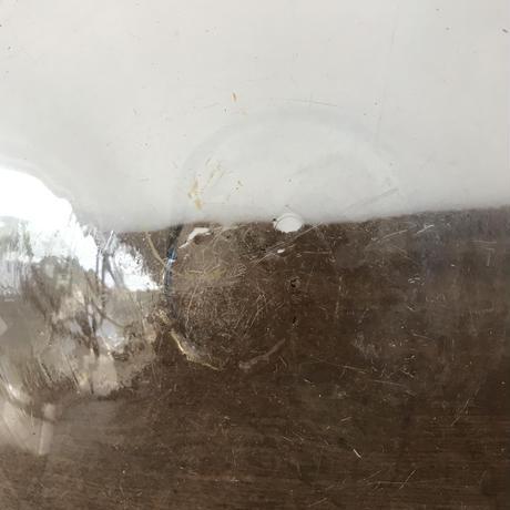 【古道具158 】古い 大きなガラス鉢