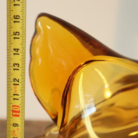 【古道具267】琥珀ガラスのレトロな たまごケース