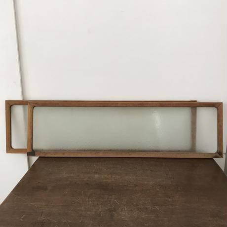 【古道具199 】摺りガラスの建具  2枚組