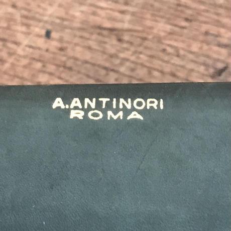 【古道具184】A.ANTINORI 革 小物入れ イタリアアンティーク