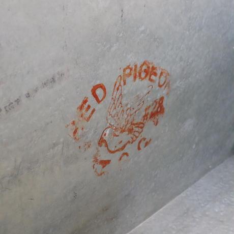 【古道具244】  大きなブリキ箱/ボックス  レトロビンテージ  ②