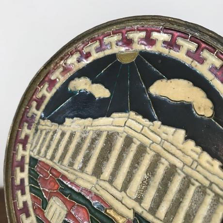 【古道具207】ビンテージ bronze smaltotex  壁飾り