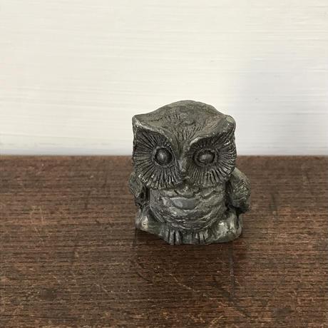 【古道具121】小さな アイアン ミミズク(フクロウ)置物