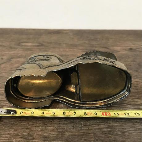 【古道具62】 アンティークなブーツ型小物入れ