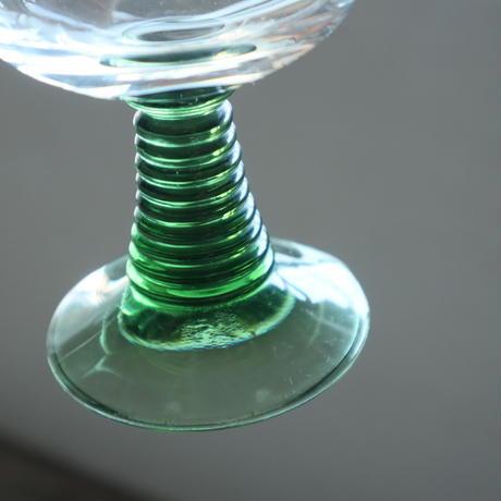 【古道具250】レーマーグラス  0.1L 2客 緑色ガラス ドイツ製