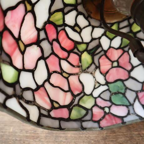 【古道具223】ステンドグラス デスクランプ
