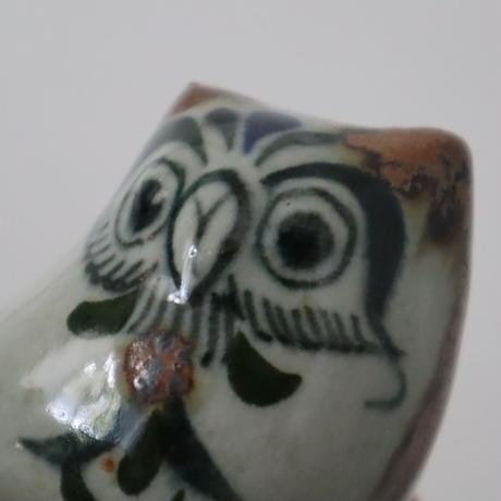 【古道具219】 陶器のフクロウのオブジェ