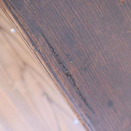 【古道具248】脚がかわいい 古い文机 引き出し3杯