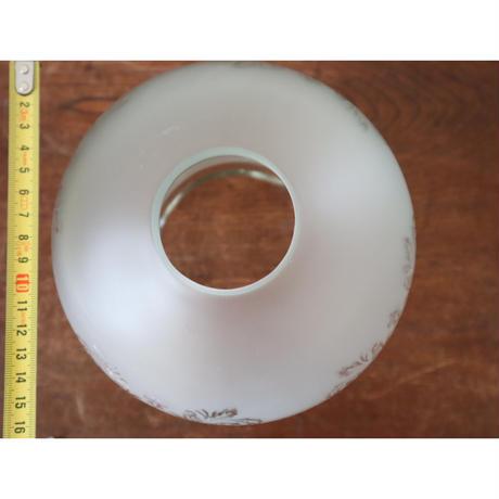 【古道具210】レトロな摺りガラスのシェード