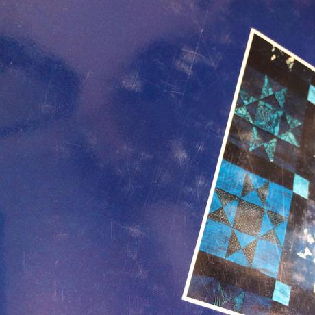 【B0041】 藍染めと更紗のパッチワーク・キルト 黒羽志寿子