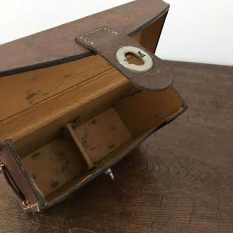 【古道具201】 古い革製 カメラケース