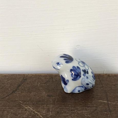 【古道具128】陶器 染付 ちいさな 河童さん