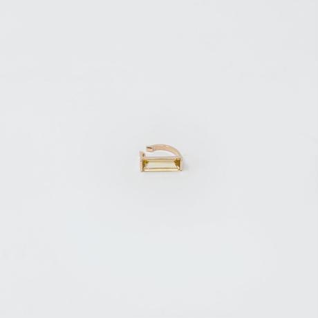ear cuff/ K10YellowGold - レモンクオーツ