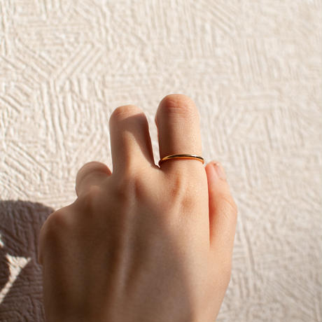 ring / K18YG simple thing  2mm