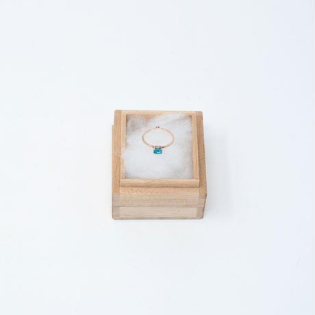 ring / K10YG 4x5 - ブルートパーズ