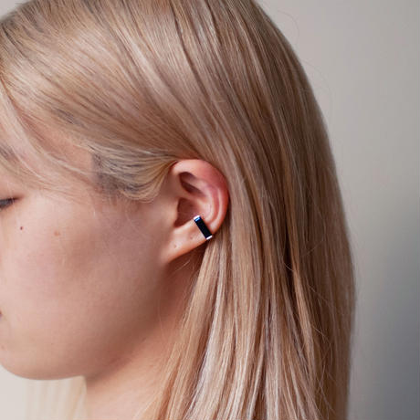 ear cuff/ K10WhiteGold - オニキス