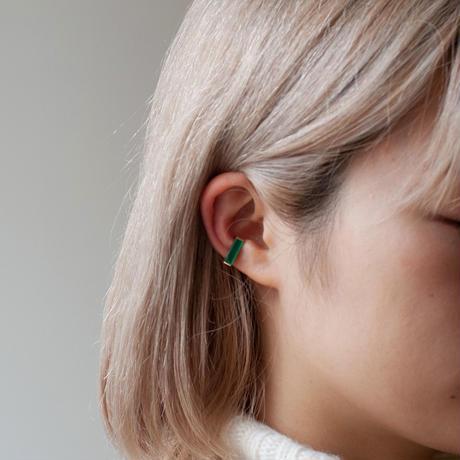 ear cuff/ K10YG - グリーンアゲート