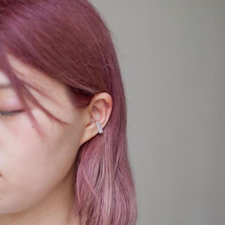 ear cuff/ K10WG - つや消し水晶
