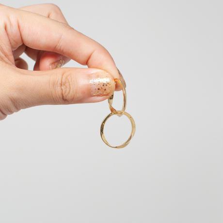 ring / K18YellowGold Gimmel