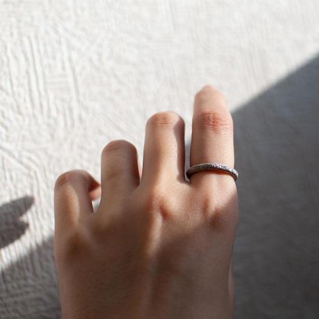 ring / SV925 diamond dust - 3mm /R