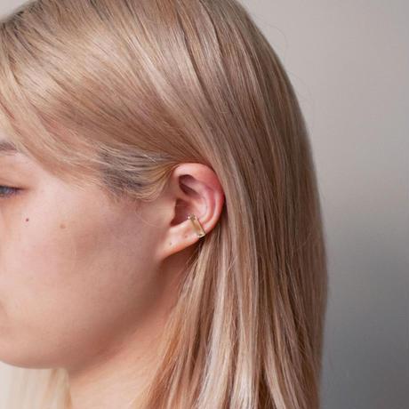 ear cuff/ K10WhiteGold - レモンクオーツ