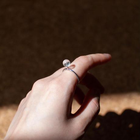 ring / SV925  greeting - 水晶(つや消し) /R