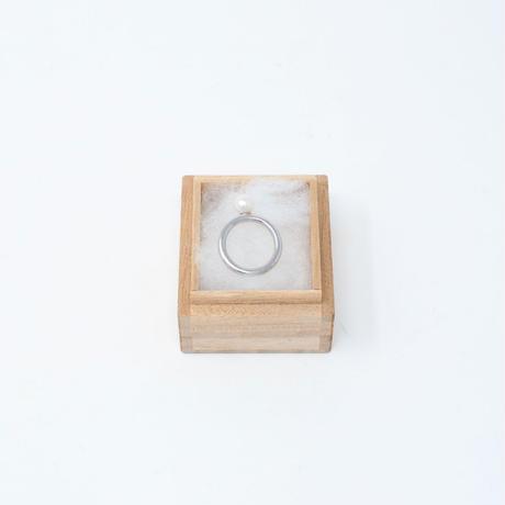 ring / SV925  bold - 淡水パール(W) /R
