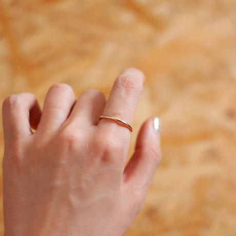 ring / K10YG simple thing  2mm