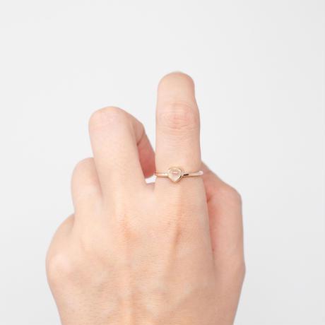 ring / K10YG heart / F - ホワイトムーンストーン