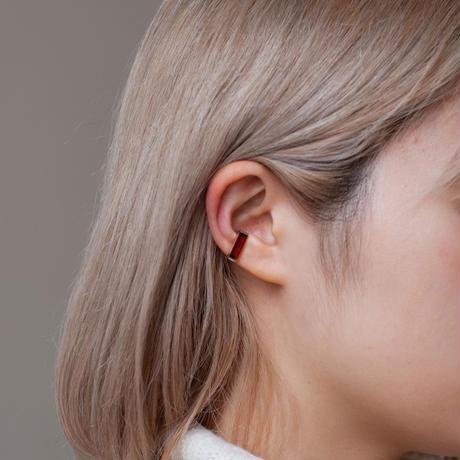 ear cuff/ K10YG - ガーネット