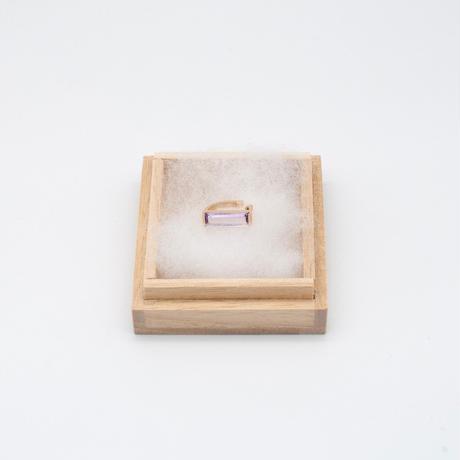 ear cuff/ K10YG - ピンクアメジスト