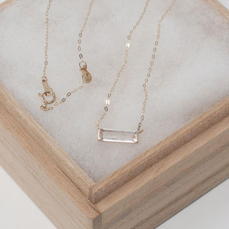 necklace A / K10YG - ゴールドルチルクォーツ