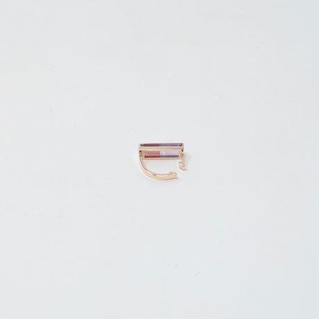 ear cuff/ K10YG - アメジスト×ガーネット