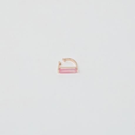 ear cuff/ K10WG - ピンクカルセドニー