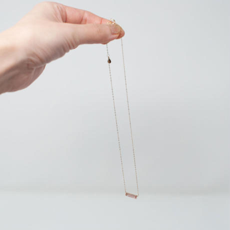 necklace A / K10YG - ストロベリークォーツ