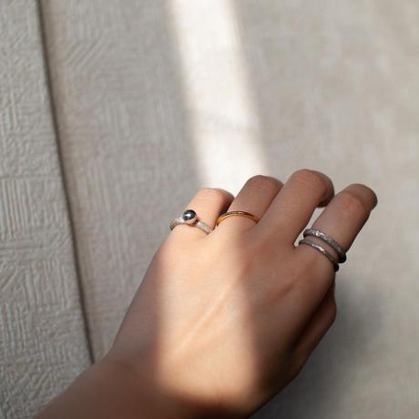 ring / SV925 ball - diamond dust - SD/R