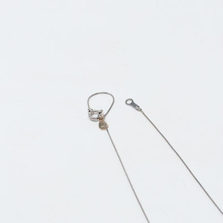 necklace D / Pt850 - スモーキークォーツ