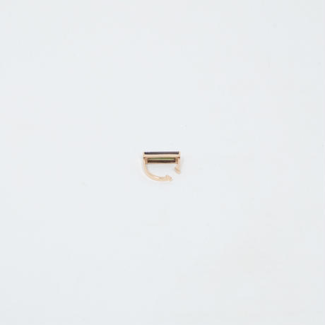 ear cuff/ K10YG - 黒蝶貝×ピンクアメジスト