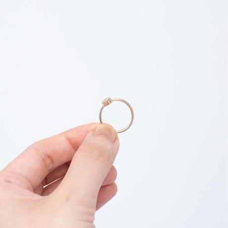 ring / K10YG heart - ホワイトトパーズ