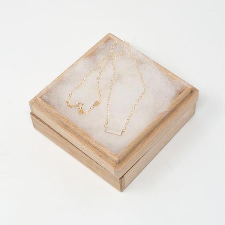 necklace B / K10YellowGold - マット水晶