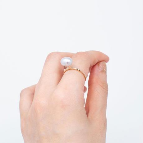 ring / K10YG greeting - 淡水パール