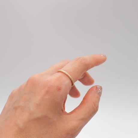 ring / K10YG diamond dust 2mm