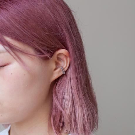 ear cuff/ K10YG - ブラックトルマリンインクオーツ