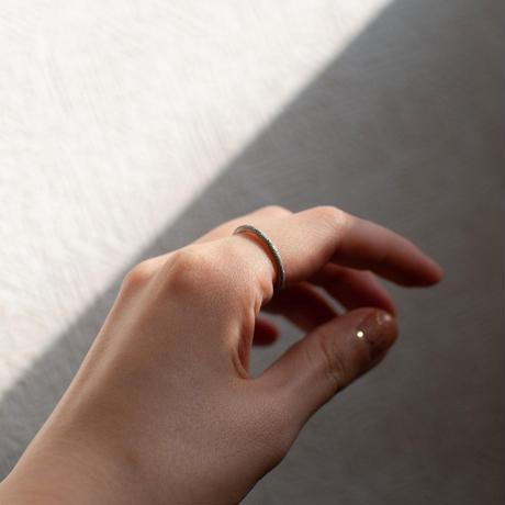 ring / SV925 diamond dust - 2mm /R