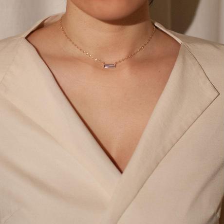 necklace B / K10YG - 白蝶貝×カーネリアン