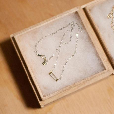 necklace C / K10WG - グリーンアメジスト